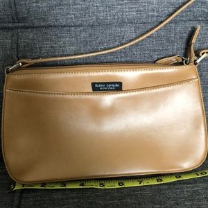 Small camel colored handbag
